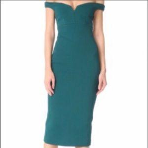 Cinq a sept teal dress